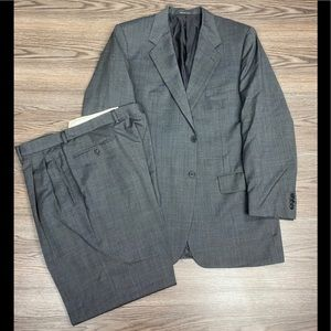 Corneliani Grey Tic Weave Suit 42L
